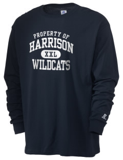 Harrison School Wildcats  Russell Men's Long Sleeve T-Shirt