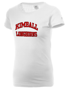 Kimball High School Longhorns  Russell Women's Campus T-Shirt
