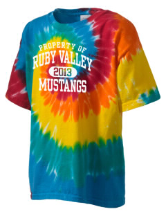 Ruby Valley Elementary School Mustangs Kid's Tie-Dye T-Shirt