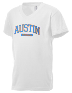 Austin High School Broncos Kid's V-Neck Jersey T-Shirt