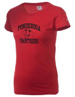 Ponderosa Elementary School Panthers  Russell Women's Campus T-Shirt