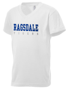 Ragsdale High School Tigers Kid's V-Neck Jersey T-Shirt