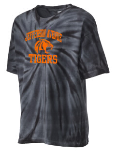 Jefferson Avenue Elementary School Tigers Kid's Tie-Dye T-Shirt
