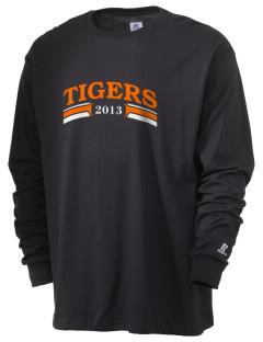 Jefferson Avenue Elementary School Tigers  Russell Men's Long Sleeve T-Shirt
