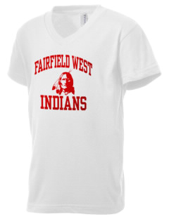 Fairfield West Elementary School Indians Kid's V-Neck Jersey T-Shirt