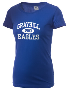 Grayhill Elementary School Eagles  Russell Women's Campus T-Shirt