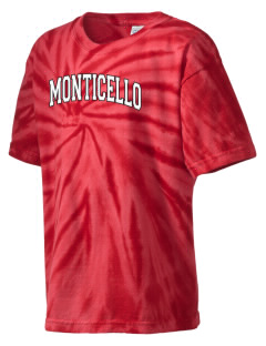 Monticello Middle School Cardinals Kid's Tie-Dye T-Shirt