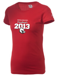 Monticello Middle School Cardinals  Russell Women's Campus T-Shirt