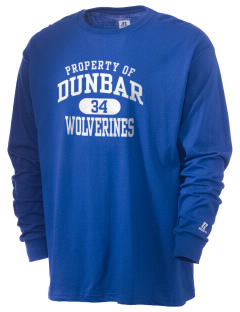 Dunbar High School Wolverines  Russell Men's Long Sleeve T-Shirt