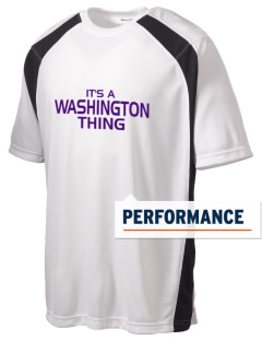 Washington School Warriors Men's Dry Zone Colorblock T-Shirt