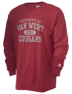 Van Wert High School Cougars  Russell Men's Long Sleeve T-Shirt