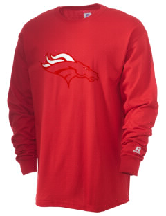 Mustang Middle School Broncos  Russell Men's Long Sleeve T-Shirt