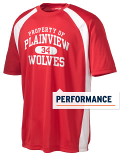 Plainview Elementary School Wolves Men's Dry Zone Colorblock T-Shirt
