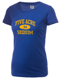 Five Acre School Sequim  Russell Women's Campus T-Shirt