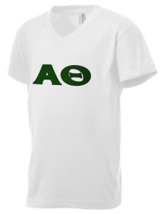 Alpha Theta Kid's V-Neck Jersey T-Shirt