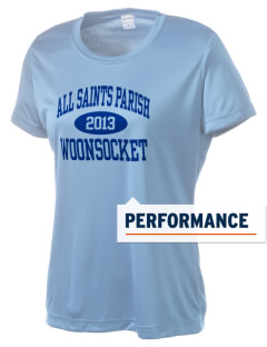 All Saints Parish Woonsocket Women's Competitor Performance T-Shirt