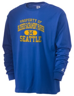 Blessed Sacrament Parish Seattle  Russell Men's Long Sleeve T-Shirt