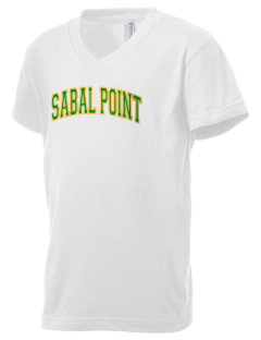 Sabal Point Elementary School Alligators Kid's V-Neck Jersey T-Shirt