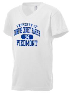 Corpus Christi Parish Piedmont Kid's V-Neck Jersey T-Shirt