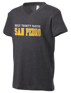 Holy Trinity Parish San Pedro Kid's V-Neck Jersey T-Shirt
