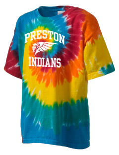 Preston Junior High School Indians Kid's Tie-Dye T-Shirt