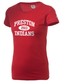 Preston Junior High School Indians  Russell Women's Campus T-Shirt