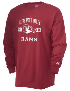 Clearwater Valley Elementary School Rams  Russell Men's Long Sleeve T-Shirt