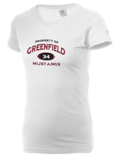 Greenfield Elementary School Mustangs  Russell Women's Campus T-Shirt