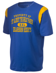 St Albert The Great Parish Dearborn Heights Holloway Men's Rush T-Shirt