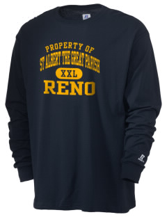 St Albert The Great Parish Reno  Russell Men's Long Sleeve T-Shirt