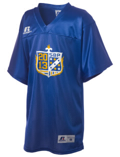 St Bartholomew Parish Sharpsville Russell Kid's Replica Football Jersey
