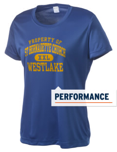 St Bernadette Church Westlake Women's Competitor Performance T-Shirt