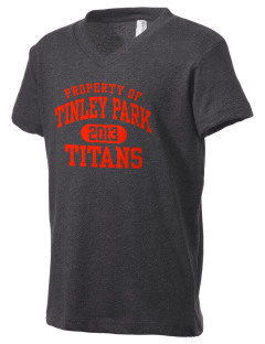 Tinley Park High School Titans Kid's V-Neck Jersey T-Shirt