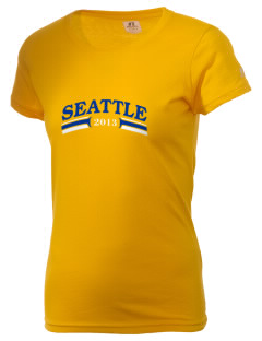St Catherine Parish Seattle  Russell Women's Campus T-Shirt
