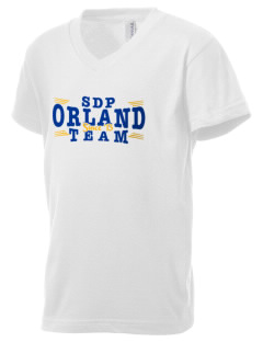St Dominic Parish Orland Kid's V-Neck Jersey T-Shirt