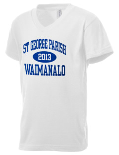 St George Parish Waimanalo Kid's V-Neck Jersey T-Shirt