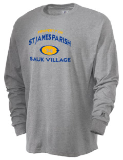 St James Parish Sauk Village  Russell Men's Long Sleeve T-Shirt