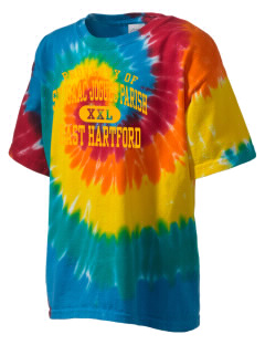 St Isaac Jogues Parish East Hartford Kid's Tie-Dye T-Shirt