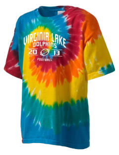 Virginia Lake Elementary School Dolphins Kid's Tie-Dye T-Shirt