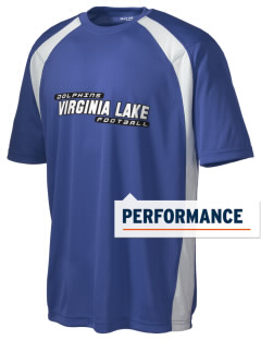 Virginia Lake Elementary School Dolphins Men's Dry Zone Colorblock T-Shirt