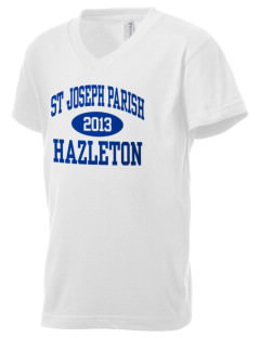 St Joseph Parish Hazleton Kid's V-Neck Jersey T-Shirt
