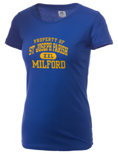 St Joseph Parish Milford  Russell Women's Campus T-Shirt