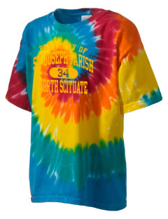St Joseph Parish North Scituate Kid's Tie-Dye T-Shirt