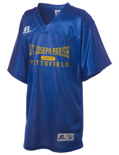 St Joseph Parish Pittsfield Russell Kid's Replica Football Jersey
