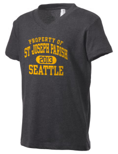 St Joseph Parish Seattle Kid's V-Neck Jersey T-Shirt