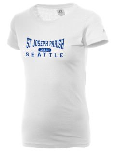 St Joseph Parish Seattle  Russell Women's Campus T-Shirt