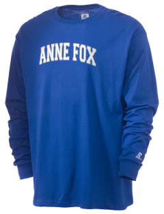 Anne Fox Elementary School Foxes  Russell Men's Long Sleeve T-Shirt