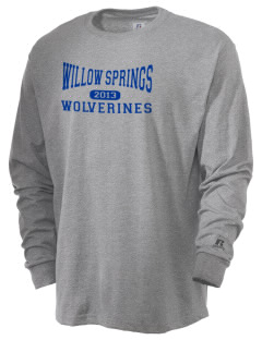 Willow Springs Elementary School Wolverines  Russell Men's Long Sleeve T-Shirt