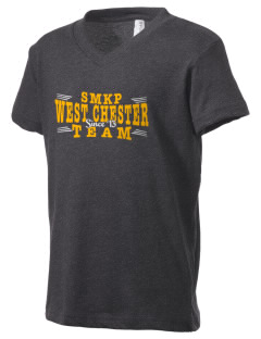 St Maximilian Kolbe Parish West Chester Kid's V-Neck Jersey T-Shirt