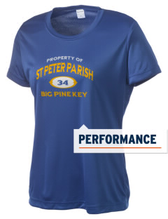 St Peter Parish Big Pine Key Women's Competitor Performance T-Shirt